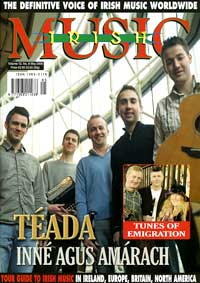 Teada on cover of Irish Music