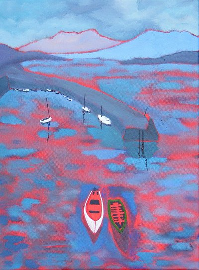 Painting of Roundstone Harbour in Connemara