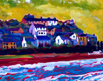Painting of Youghal in County Cork