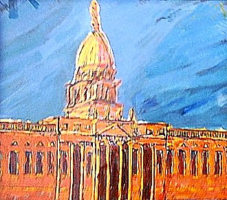 Custom House, a painting