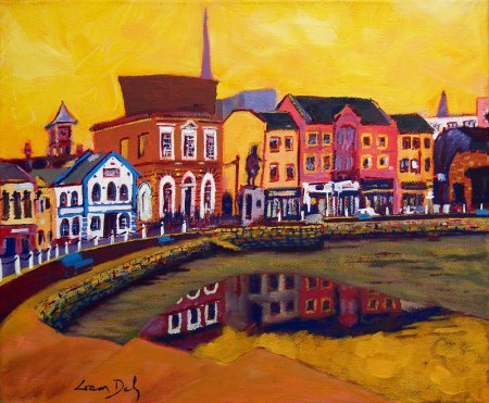 A painting of Crescent Quay in Wexford