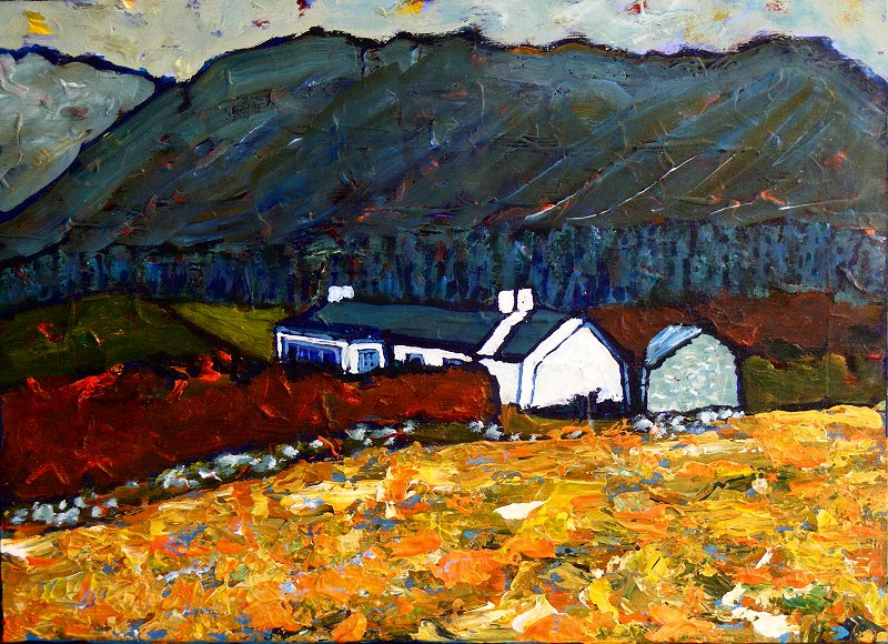 A Painting Of Cottage In Donegal