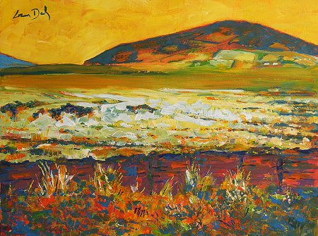 A painting of a bog in north Mayo, but if you want to pay me more money it can be a bog anywhere