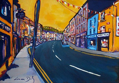 A painting of Skibbereen in Cork