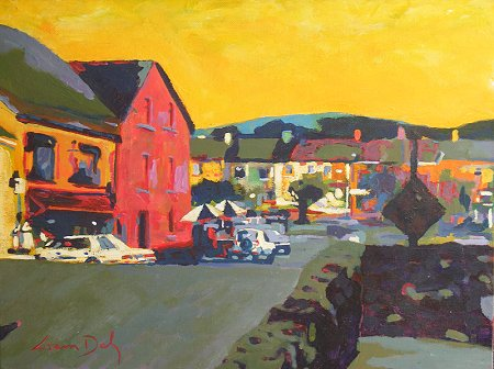 A painting of the village of Sneem in Kerry