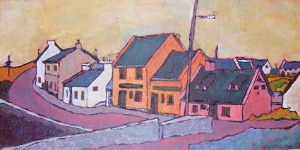 a painting of Doolin in Ireland's County Clare