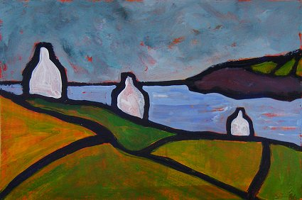 Mini landscape with 3 cottages
