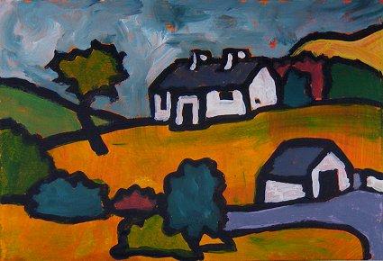 Mini painting based on Pearses Cottage