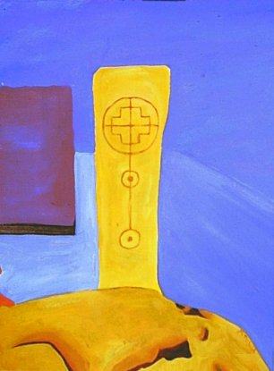 Painting of a Donegal Standing Stone