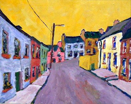 Painting of village of Eyeries in West Cork, Ireland
