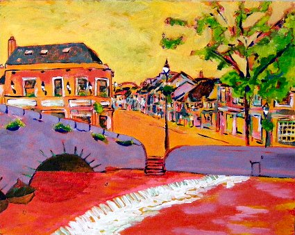 Painting of Westport in Mayo title=