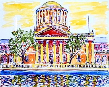 Four Courts, a painting