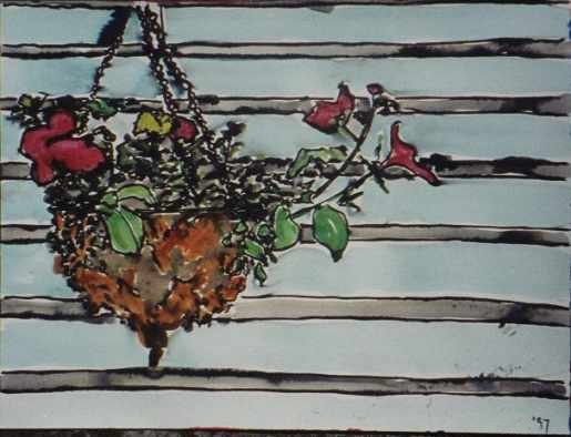 Hanging Basket, a painting