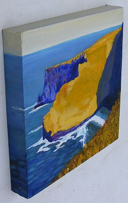 Side view of painting of the Cliffs of Moher