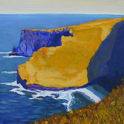 Painting of the Cliffs of Moher