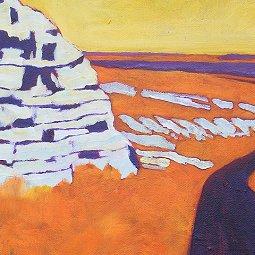 detail of painting: Kansas West
