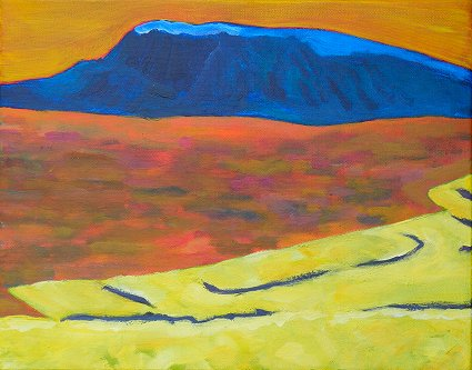 Painting of Muckish Mountain from just to the north