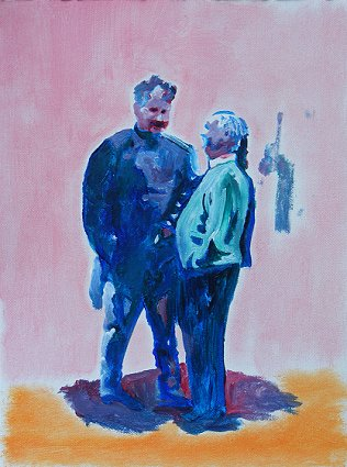 Painting of another 2 men in conversation