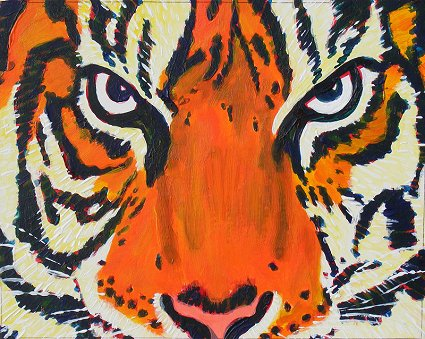 Painting of a Tiger's face