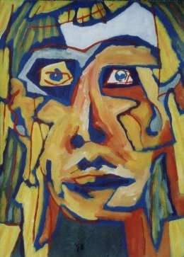 Yellow Face, a painting