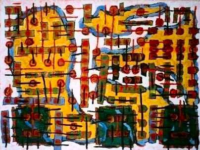 Pedestrians II, a painting