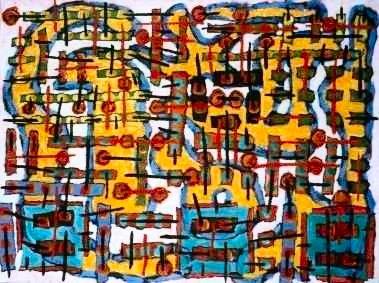 Pedestrians III, a painting