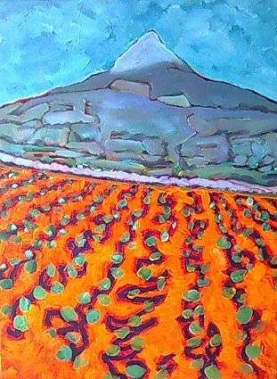 Painting of an the Great Sugar Loaf in Wicklow