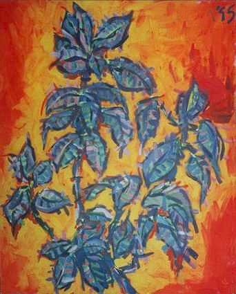 Rubber Plant, a painting