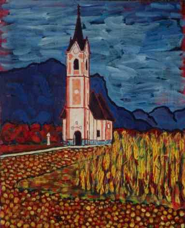 Slovenian Church, a painting