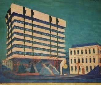 painting of Ireland's Central Bank