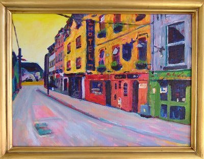 Original Irish Painting: Galway Street