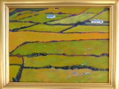 Painting of Irish Green Fields