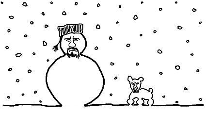 Irish KC and his dog wish you a Happy Christmas