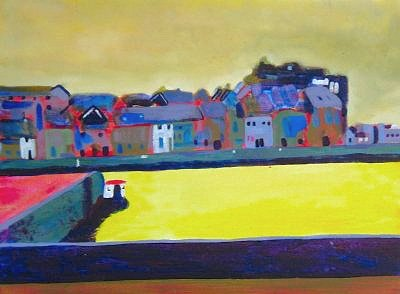 galway painting of the claddagh quay