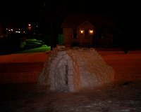 igloo in progress at night