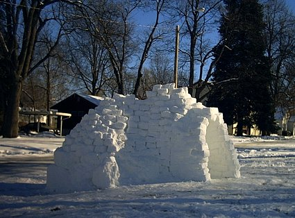 igloo from the side