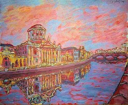 Painting of The Four Courts title=