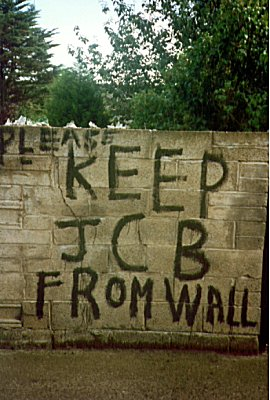 Keep JCB From Wall