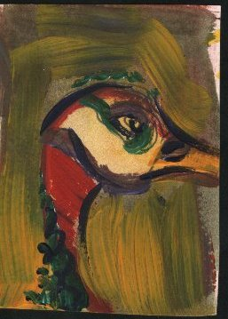 painting of a duck, standing