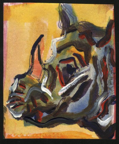 painting of a rhino