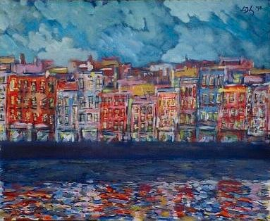 Painting of Dublin: The Quay