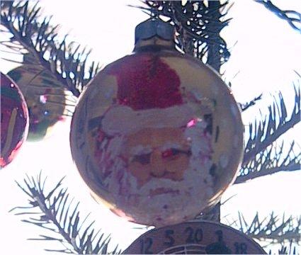 Homemade Painted Christmas Tree Ornament